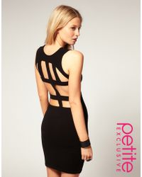 ASOS Collection Asos Petite Exclusive Cross Back Mini Dress - Lyst