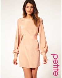 ASOS Collection Asos Petite Slit Sleeve Dress with Cut Out Back - Lyst