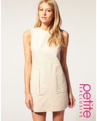 ASOS Collection Asos Petite Exclusive 60 S Textured Shift Dress - Lyst