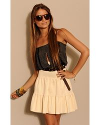 Pleasure Doing Business Pleated Petticoat Skirt - Lyst
