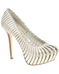 Report Signature Calyer Caged Platform Court Shoes white - Lyst