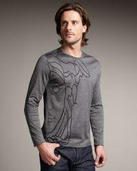 Versace Long-sleeve Medusa Tee - Lyst