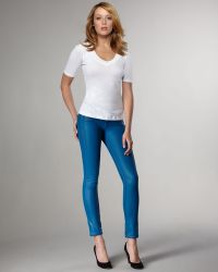 Bleu Lab - Reversible Denim Leggings, Azurite - Lyst