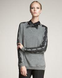 Jason Wu | Lace-trim Sweatshirt | Lyst