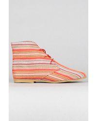 Jeffrey Campbell The Coachella Shoe in Red Stripe - Lyst