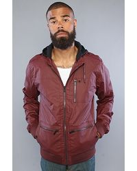 KR3W - The Wallace Jacket in Burgundy - Lyst