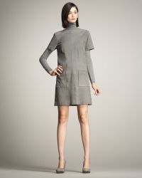 Lyn Devon - Audrey Short-sleeve Suede Shift Dress - Lyst