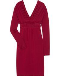 Philosophy di Alberta Ferretti Knitted Wool Sweater Dress - Lyst