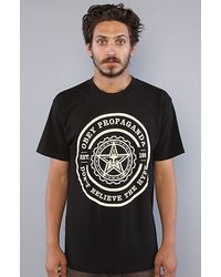 Obey The Woodcut Basic Tee in Black - Lyst
