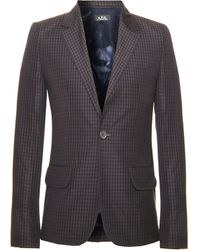 A.P.C. Gingham Sportcoat - Lyst