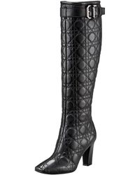 Dior Buckled Cannage Boot - Lyst