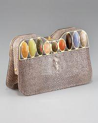 Fendi Jeweled Stingray Clutch - Lyst