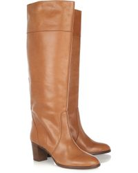 J.Crew | Booker Leather Knee Boots | Lyst