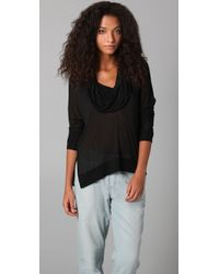 Lanston Split Cowl Neck Top - Lyst