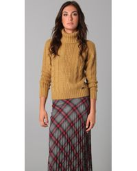 Le Mont St Michel - Cable Knit Turtleneck Jumper - Lyst