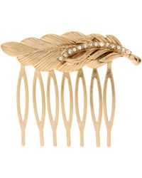 ASOS - Asos Vintage Style Feather Hair Comb with Diamante Detail - Lyst