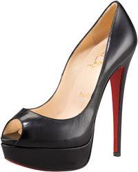 Christian Louboutin Lady Peep-toe Platform Pump black - Lyst
