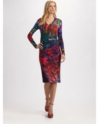 Erdem Printed V-neck Dress - Lyst