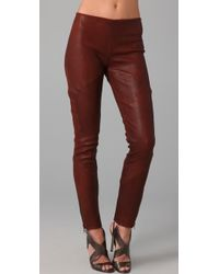 Haute Hippie Skinny Stretch Leather Pants - Lyst