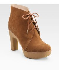 Kors by Michael Kors Divina Suede Lace-up Ankle Boots - Lyst