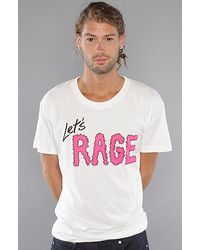 KR3W The Lets Rage Premium Tee in White - Lyst