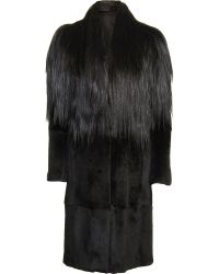 Maison Margiela Goat Hair and Rabbit Fur Coat - Lyst