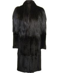 Maison Margiela Goat Hair and Rabbit Fur Coat - Lyst