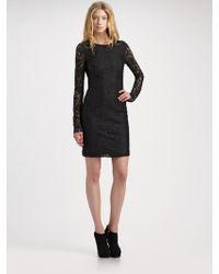 McQ by Alexander McQueen Lace Mini Dress - Lyst