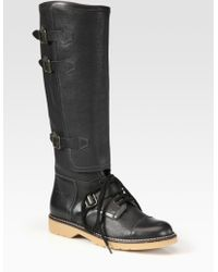See By Chloé Leather Knee-high Boots - Lyst