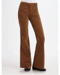J Brand All High Rise Wide-leg Corduroy Pants - Lyst