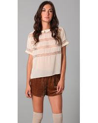 Le Mont St Michel - Striped Collared Top - Lyst