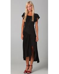 The Addison Story - Tee Dress with Leather Trim - Lyst
