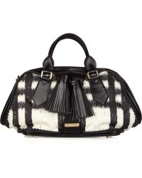 Burberry Prorsum - Leather and Wool-blend Bowling Bag - Lyst
