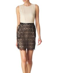 By Malene Birger Two Tone Lace Dress - Lyst
