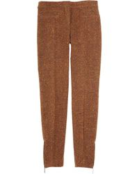 Burberry Prorsum - Wool-blend Tweed Cropped Trousers - Lyst