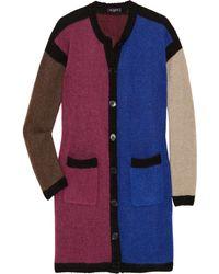 Etro Color-block Wool-blend Cardigan - Lyst