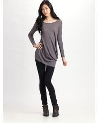 JNBY - Bias-draped Cotton Tunic - Lyst
