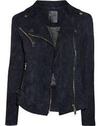 Lot78 Zoe Suede Biker Jacket - Lyst