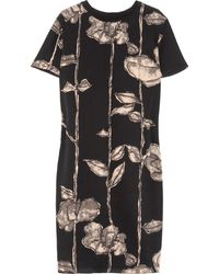 Marc Jacobs Rose-print Silk Dress - Lyst