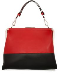 Marni Two-tone Leather Shoulder Bag - Lyst