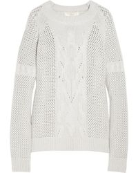 Vanessa Bruno Athé Cable-knit Wool Sweater - Lyst