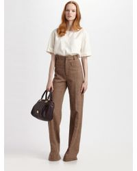 Marc By Marc Jacobs Roxy Herringbone Pants - Lyst