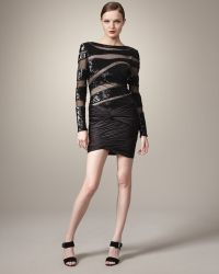 Mandalay - Illusion Beaded Dress - Lyst
