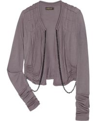 SuperTrash - Cropped Jersey Cardigan - Lyst