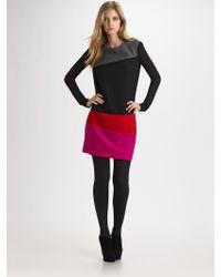 DKNY Colorblock Wool Dress - Lyst