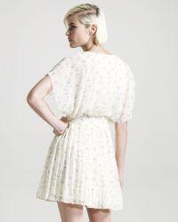 Madison Marcus - Allure Floral-print Silk Dress - Lyst