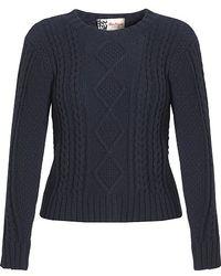 Boutique by Jaeger - Aran Knit Jumper Navy - Lyst