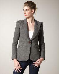 Smythe Structured Flannel Blazer - Lyst