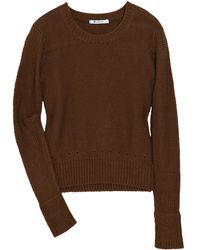 T By Alexander Wang Chunky-knit Cotton Sweater - Lyst
