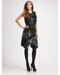 Edun Silk Asymmetrical Hem Dress - Lyst